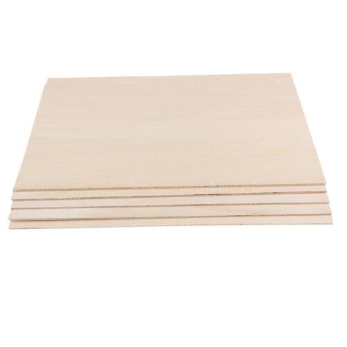 10PCS Plain Basswood Thin Balsa für DIY Crafts Aircraft Table House Modell