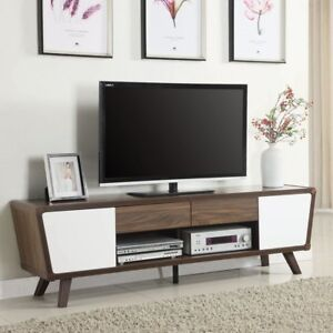 Image Is Loading Mid Century Modern Tv Stand Entertainment Center Console