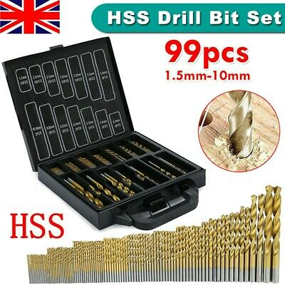 99x Titanium Bits Drill Bit Set for Stainless Steel Inox 5/% M35 Metal HSS-Co UK