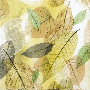 4x Paper Napkins for Decoupage Decopatch Fancy Fall Ochre