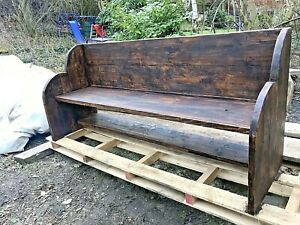 Reclaimed-Wood-Church-Pew-Bench-for-Hallway-or-Garden-Patio