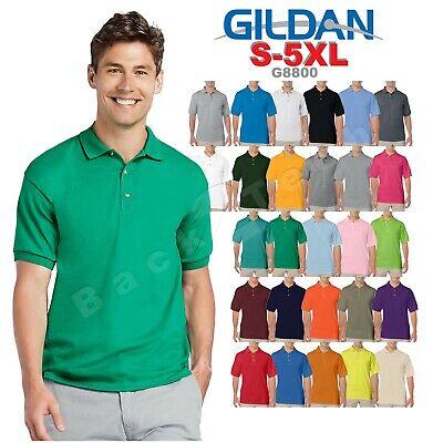 Gildan Dry Blend 50//50 Jersey Knit S//S Polo Shirt 4XL Pink