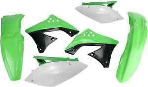 Acerbis Green/Black/Wh<wbr/>ite Plastic Kit 2009-2011 Kawasaki KX450F 2009 OE Colors