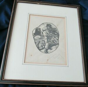 Teng-Original-Woodcut-Malaysian-artist-Signed-Framed-Purchased-in-1980-Penang