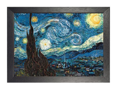 Van Gogh Starry Night Retro Picture Reproduction Poster Painting Art Photo Wall