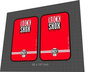 Rock Shox INDY XC 1997 Forks Decals Stickers Graphic Set Vinyl Logo Adhesive Red