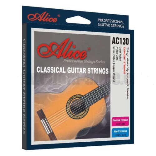 Klassische Gitarrensaiten Set 6 Silber Gewickelt Normale Hohe Spannung Nylon