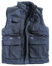 ULTIMATE BODYWARMER mens XL dark blue padded gillet coat multi pocket jacket