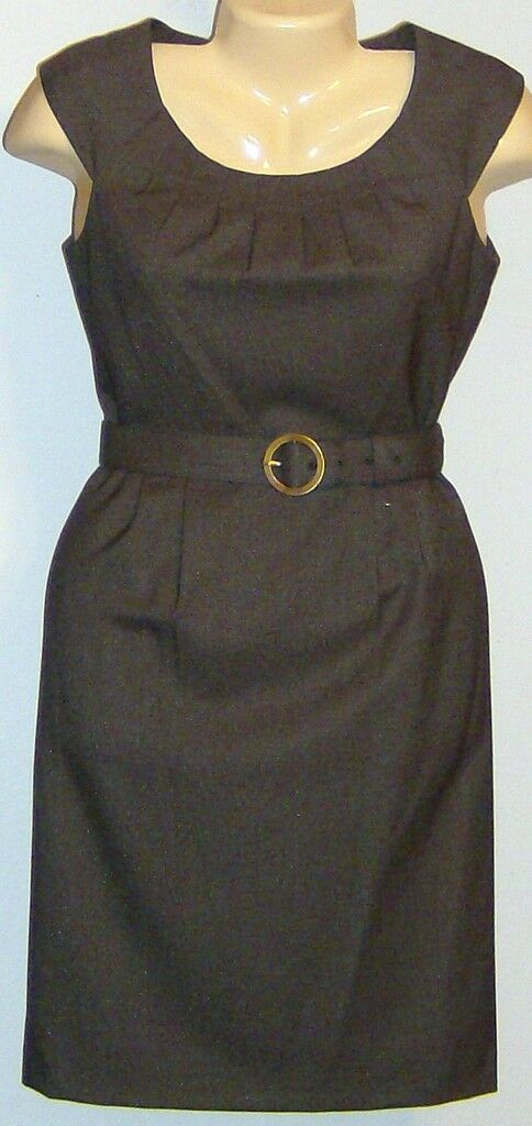 Alex Marie 14P Dress braun Shimmer Elsia Apple Orch New Sleeveless Petite Knee