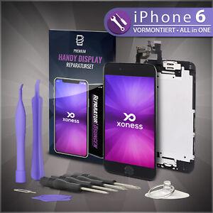 Ersatz-LCD-iPhone-6-Display-Schwarz-KOMPLETT-VORMONTIERT-Retina-Bildschirm-Black