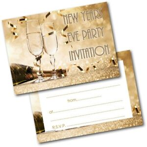 Details About New Years Eve Party Invitations Invites Pack Of 20 New Year 2020