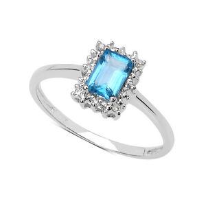 Plata-Ley-Topacio-Azul-amp-Tamano-Del-Anillo-de-Compromiso-de-Diamante-Tv