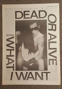 Dead-or-Alive-What-I-Want-1984-press-advert-Full-page-30-x42cm-mini-poster