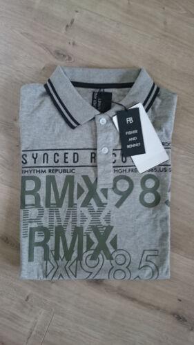 52 2-er Set Herren Poloshirt T-Shirt W.K TEX blau und grau Baumwolle XL Gr