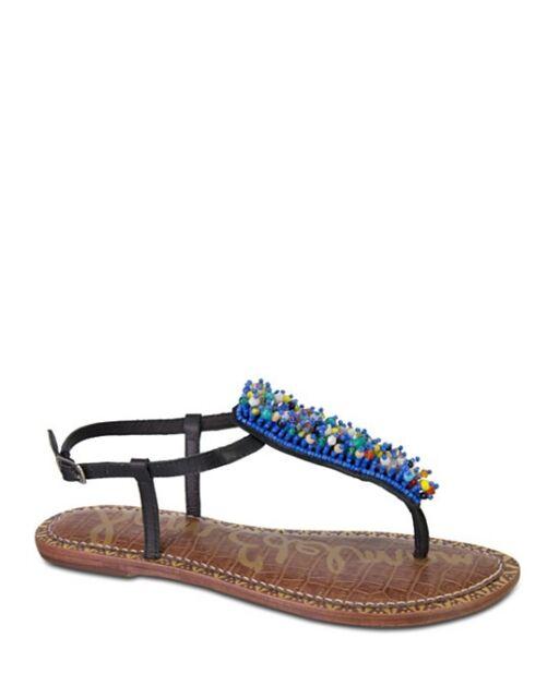 8a20a69a41b9 Sam Edelman Women s Gabrielle Beaded Thong Sandals  89 Size 7   E6 40 - 7M  New