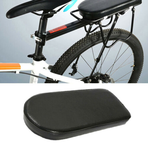 Bicycle Leather Seat Mountain Bike Rear Rack Mount Cushion Carrier Riding Parts