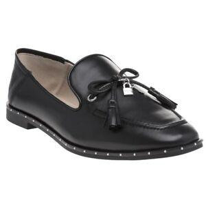 4c5a82f603c New Womens DKNY Black Laura Mocassin Leather Shoes Loafers And Slip ...
