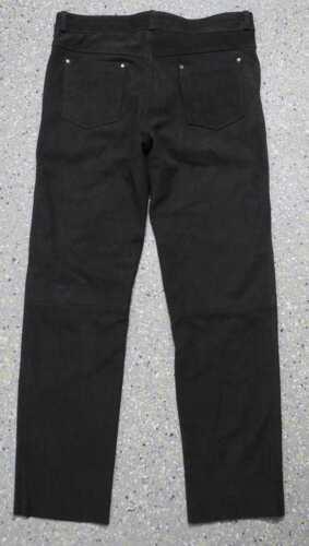 Nuovi in Jeans Pantaloni pelle pelle in motociclista di cuoio lunghi pantaloni da nubuck qznpqgwZ