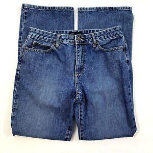 J-Crew-Womens-Size-6-Boot-Cut-Mid-Rise-Medium-Blue-Wash-Jeans