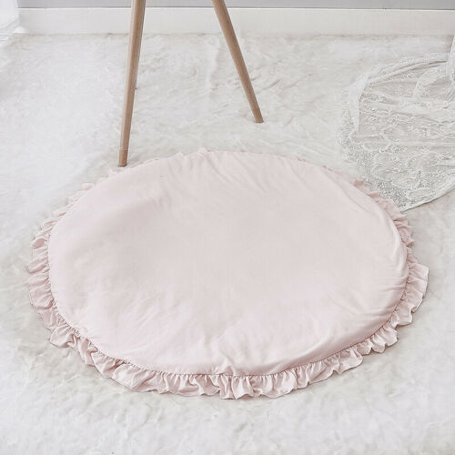 Baby Kid Soft Cotton Floor Rug Round Game Activity Play Mat Crawling Blanket UK