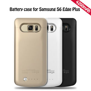 new styles 117e1 84da7 Details about External Battery Backup Case Charger Power Bank For Samsung  Galaxy S6 Edge Plus