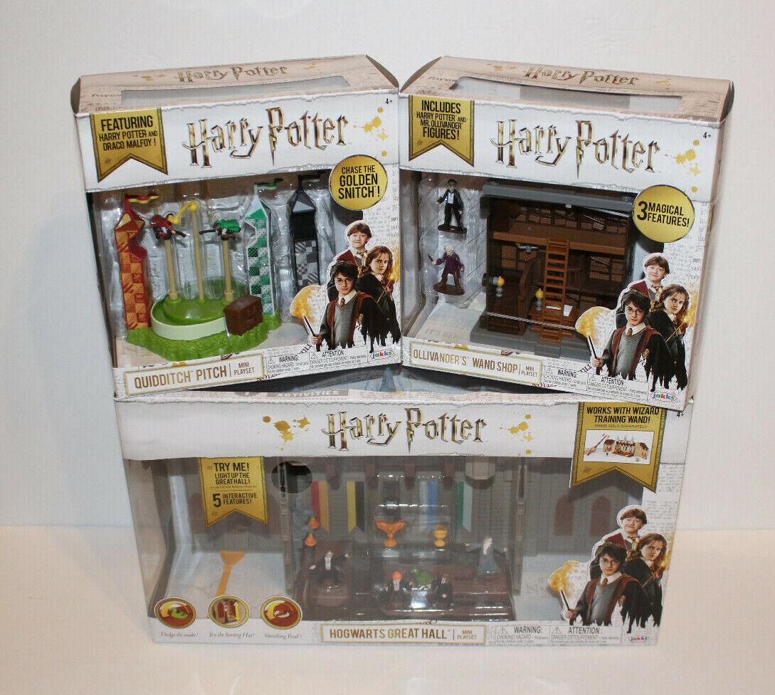 Harry Potter Grand Hall Playset + entraînement + Ollivander's Toys figure Lot NEUF