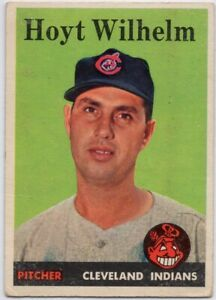 1958-Topps-324-Hoyt-Wilhelm-VG-VGEX-Cleveland-Indians-FREE-SHIPPING