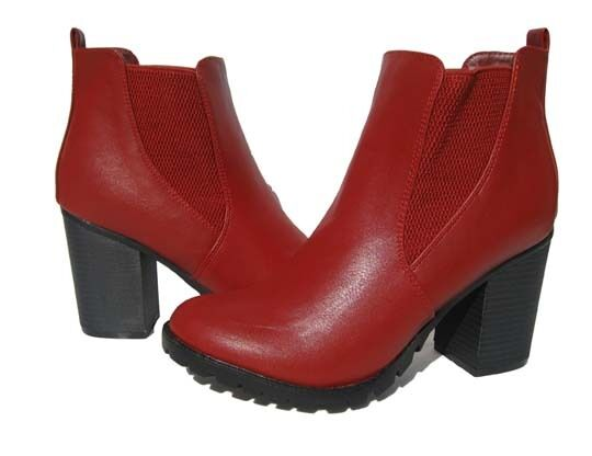 New New New Women's Fashion Boots Red Lug Soles Shoes Winter Snow Ladies size 10 6bf186
