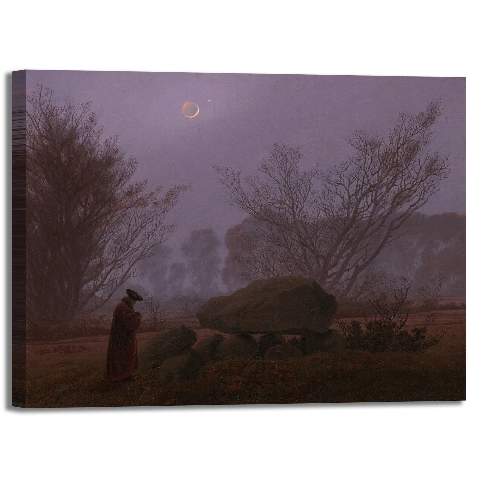 Caspar passeggiata al crepuscolo quadro casa stampa tela dipinto telaio arRouge o casa quadro 38bf60