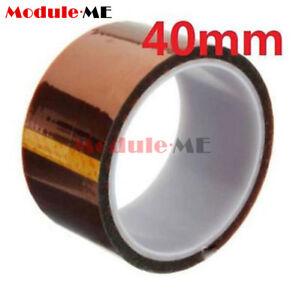40mm-4cm-x-30M-Kaptonband-Klebeband-hochtemperatur-Hitzebestaendige-polyimidfolie-UK