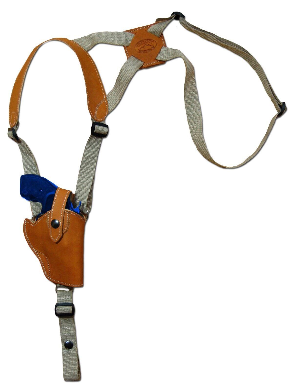 NEW Barsony Saddle Tan Leder Vertical Shoulder Holster Rossi EAA Kimber 2