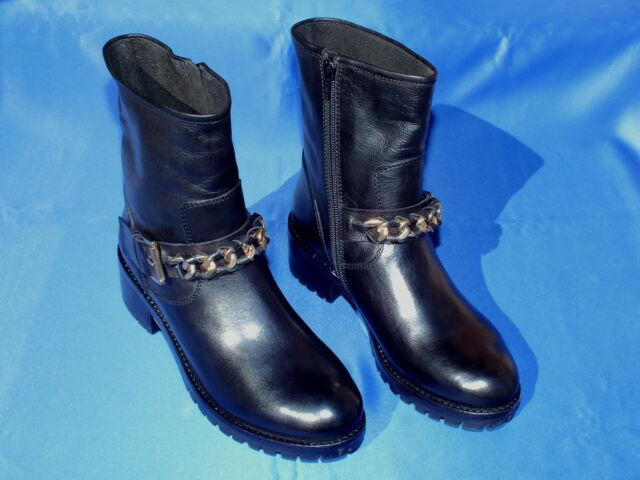 BNIB Ladies Quality Black Leather Boots By Faith UK 6 EURO 39