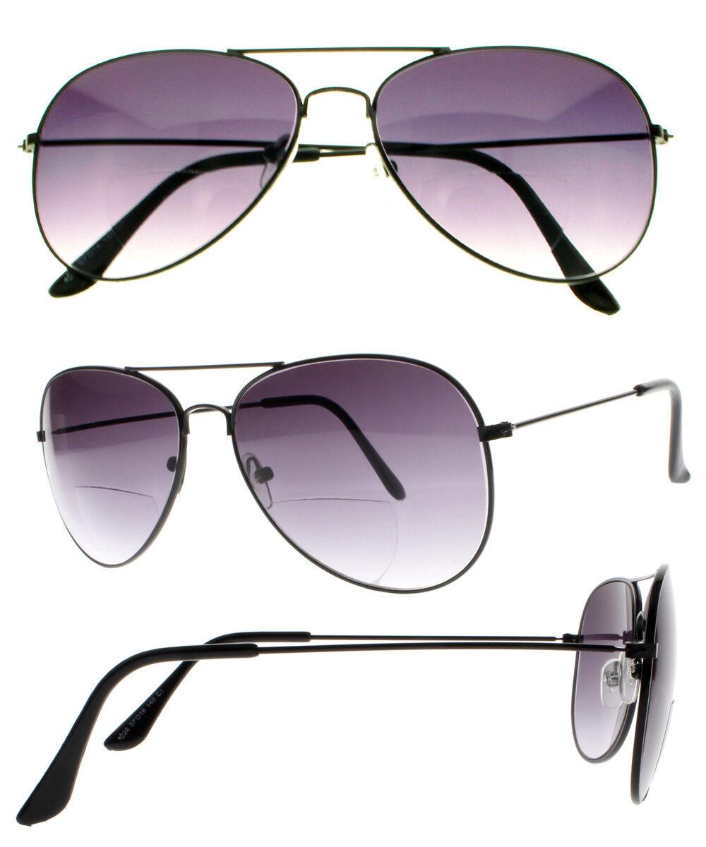 83072e6ebb Details about Mens Retro Aviator Bifocal Tinted UV400 Sunglasses Reading  Glasses Sun Readers