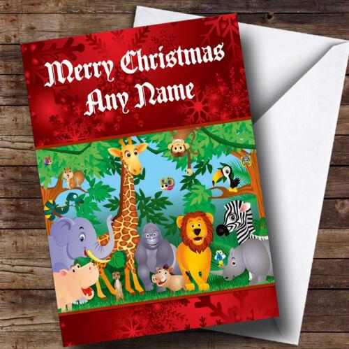 Animal Jungle Personalised Christmas Greetings Card