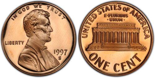 1997-S  Proof Lincoln Cent Nice Coins Priced Right Shipped FREE