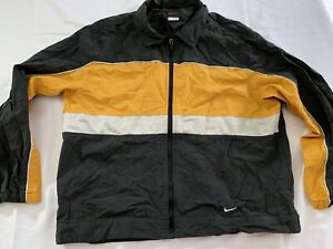 Details about Vintage Nike Windbreaker 90's Jacket Men's Medium Blackyellow Color Block