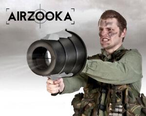 Noir-Airzooka-Bazooka-Blaster-Amusant-Pistolet-Jeu-Air-Argent-Jouet-Enfants
