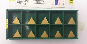 TPG 221 M6e C2 Al2O3 Coated Carbide Inserts TPGN 110304 10pcs New World Products