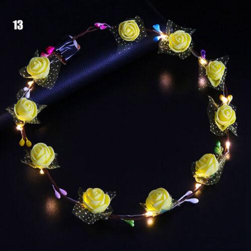 Light Up Headband Hairband Garlands Wedding Luminous Toys For Children Wreath UK