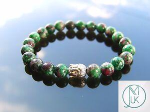 Image Is Loading Buddha Ruby Zoisite Natural Gemstone Bracelet 7 8