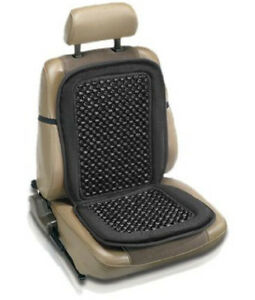 Car-Van-Taxi-Front-Seat-Black-Wooden-Bead-Beaded-Massage-Massaging-Cover-Cushion