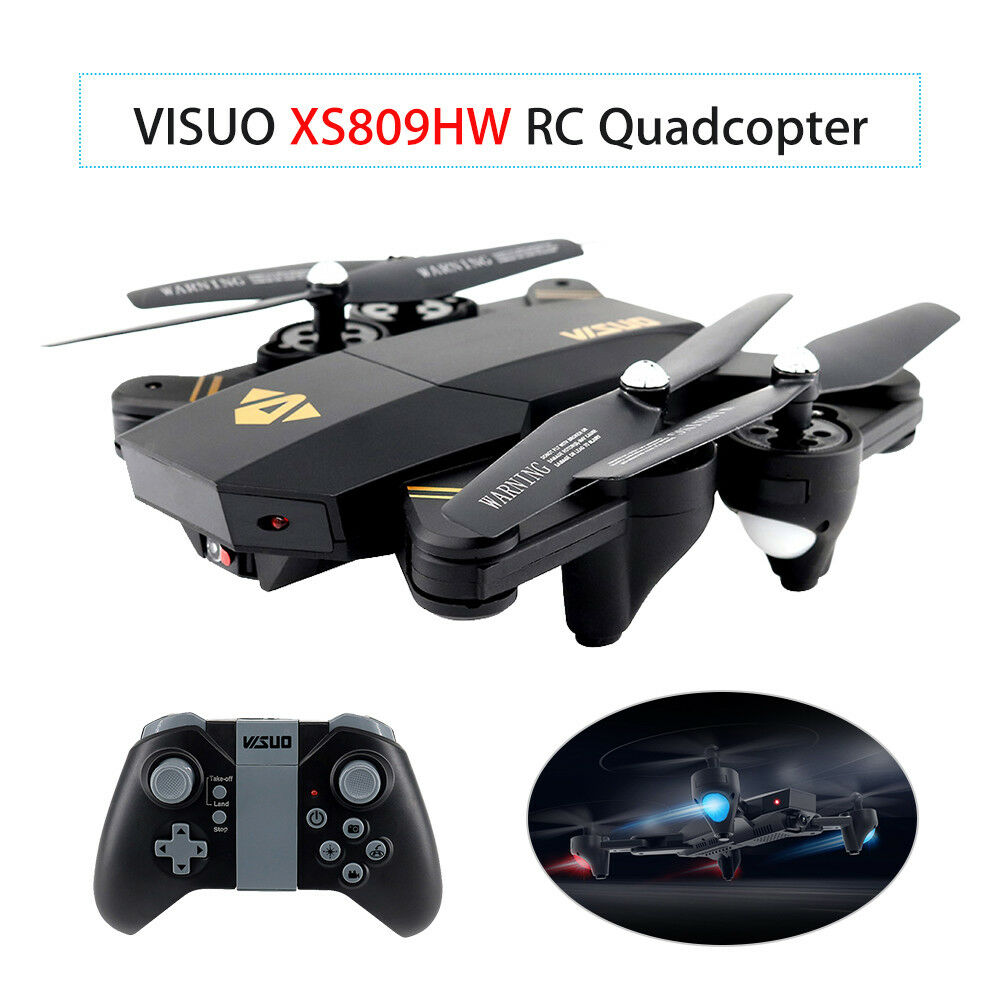 VISUO XS809HW Selfie Quadcopter Wifi 2.4Ghz FPV Video Camera Foldable RC Drone