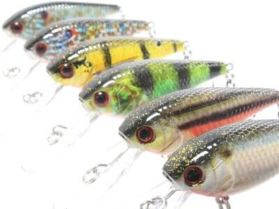 wLure 2 3//4 inch1.5 model Crankbait Tight Wobble Fishing Lures HC15