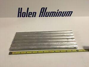 """2 Pieces 1/"""" X 12/"""" Aluminum Round Rod Solid 6061-T6"""