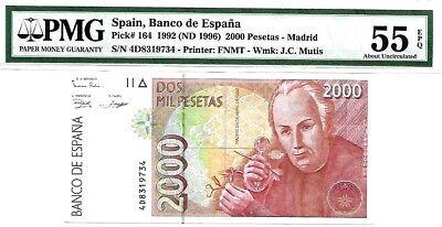 aVF Spain 2000 Pesetas 1992 P-164