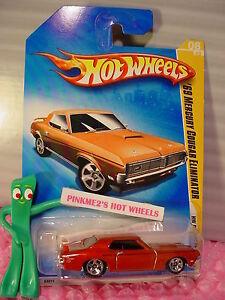 2009-8-Premier-Hot-Wheels-039-69-COUGAR-ELIMINATOR-1969-Orange-5sp-New-Models