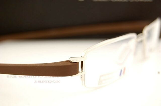 Brand New TAG Heuer Eyeglass Frames TRACK S 7207 004 SILVER/CHOCOLATE For Men