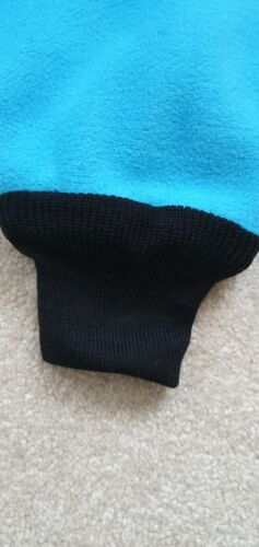 Blue Fleece Pogies with elasticated wrist bands for Rowing Sweep and Scull