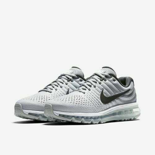 Nike Air Max 2017 Size 10 14 White Dark Grey Wolf Grey Running Shoes 849559 101