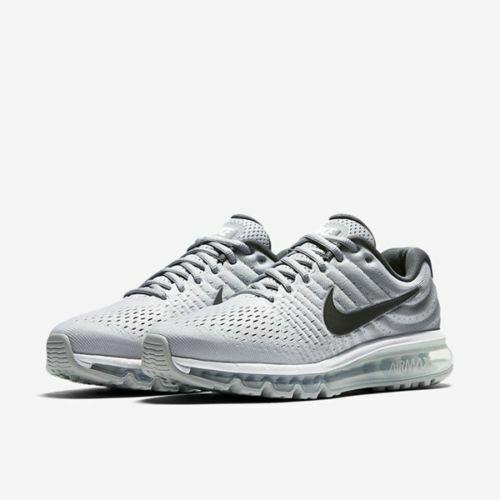 Nike Air Max 2017 Size 10 14 White Dark Grey Wolf Grey Running Shoes 849559 101